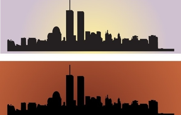 Skyline US NewYork City Vectors