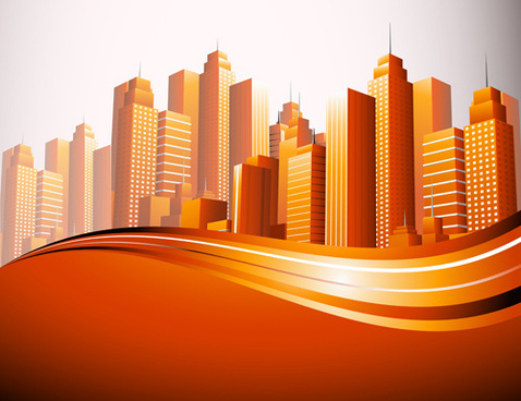 skyscraper creative design elements vector