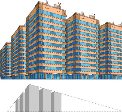 skyscraper design graphics vector