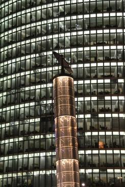 skyscraper lighting facade