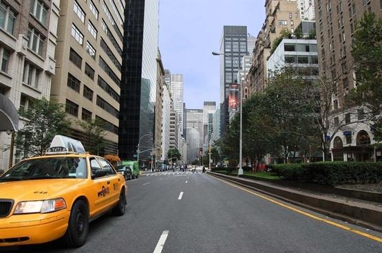 skyscraper street car