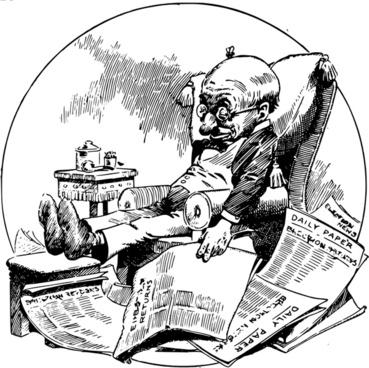 Sleeping Man with Newspapers