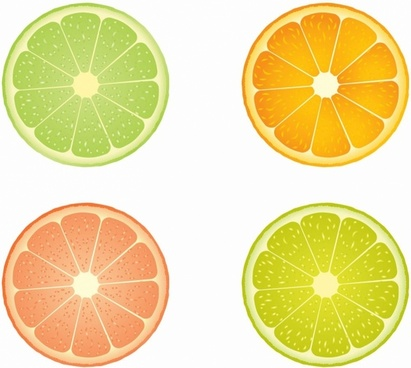 Slices of lime and orange