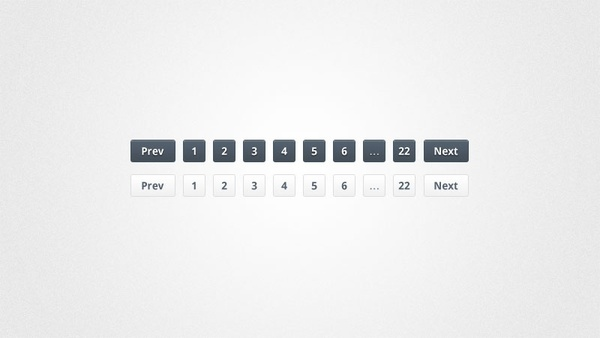 Slick Pagination Links PSD