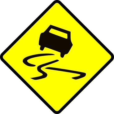 Slippery When Wet clip art