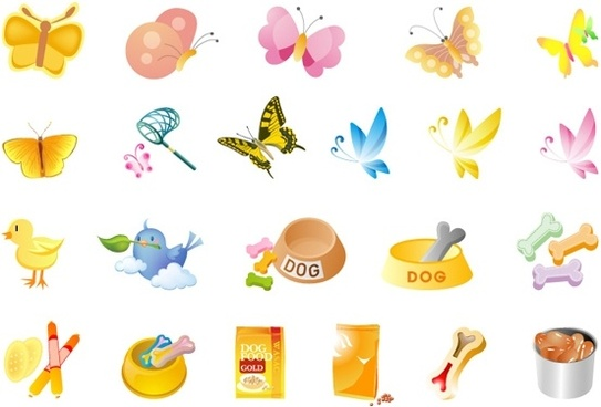 small animals and pet food vector