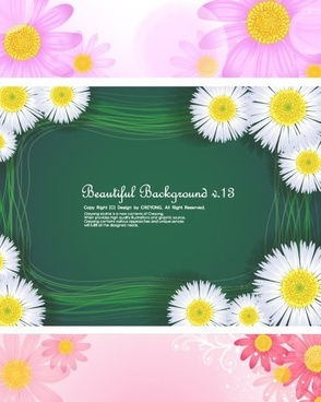 daisy background sets colorful bright decor