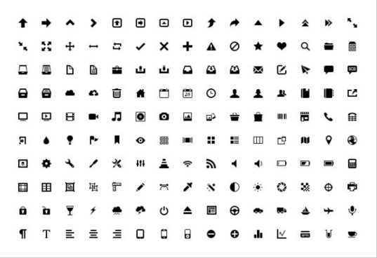 small fine vector app icons