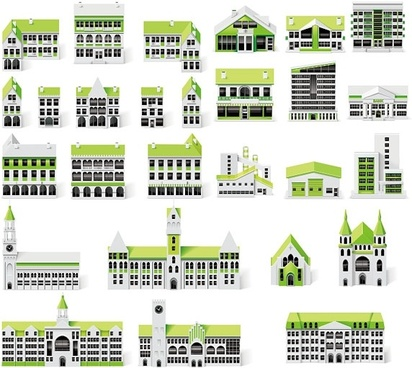 small green house vector