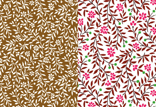 small leaves and small flower background art vector