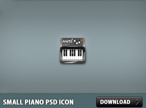 Small Piano PSD Icon