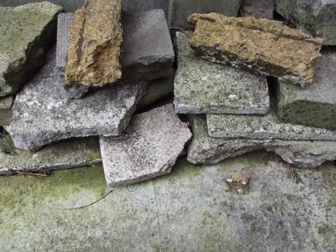 small pile of brick rubble
