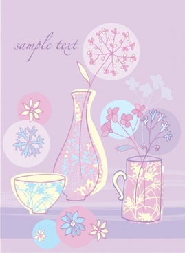 small pink illustration 03 vector