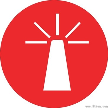small red icon vector power tower