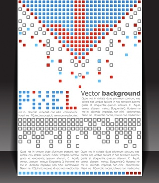 small squares dense layout background vector
