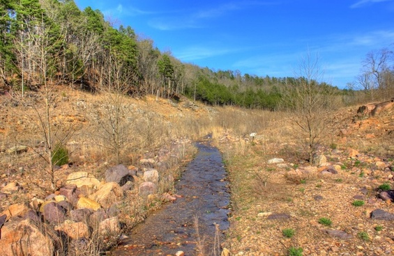 small stream in the valley at johnson039s shut ins state park