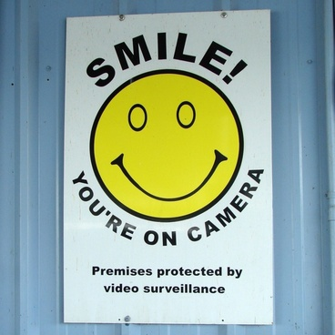 smile your on camera