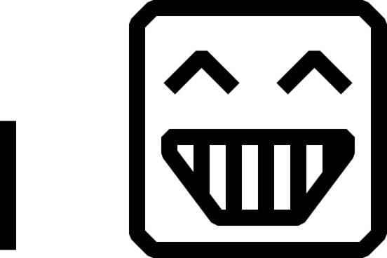 Smile Face Icon clip art