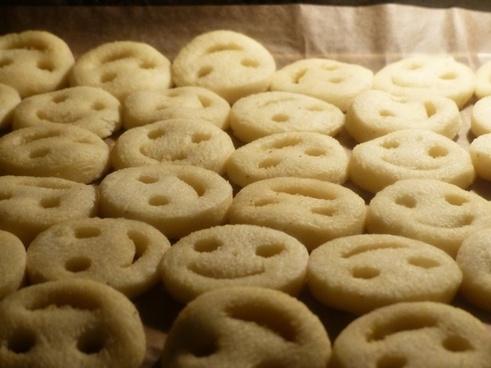 smile fries potato cakes oven