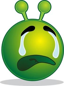 Smile Green Alien Weap clip art