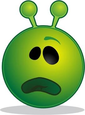 Smile Green Alien Whatface clip art