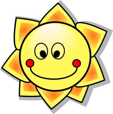 Smiling Cartoon Sun clip art