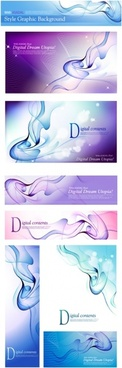 abstract background sets 3d curves ornament