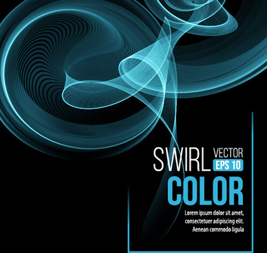 smoke swirl abstract background vector