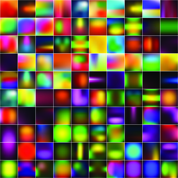 smooth and colorful blurs vector background