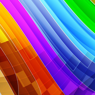smooth colored wave art background vector