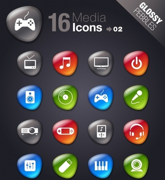 smooth soft stone icon icons vector electronics technology