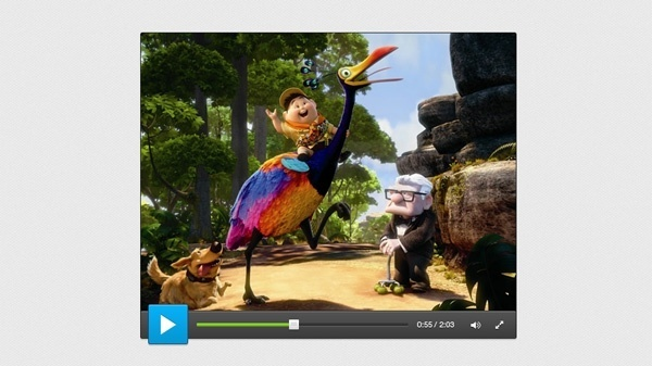 Smooth Video Player UI PSD