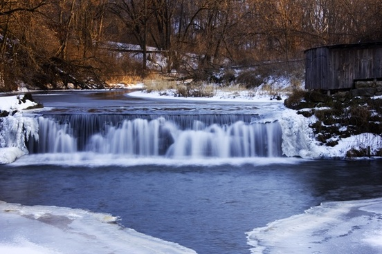 smooth waterfalls at hyde wisconsin