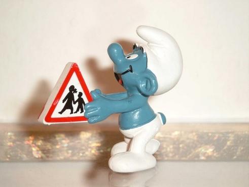 smurf blue shield