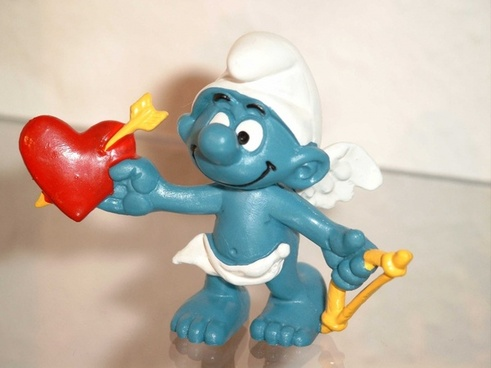 smurf smurfs blue