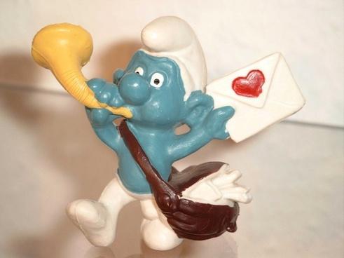 smurf smurfs love letter