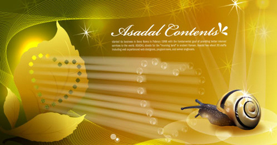 snail with golden background vector