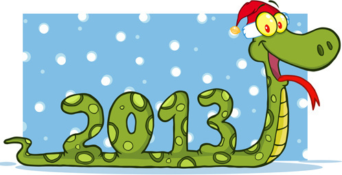 snake13 christmas design vector graphics