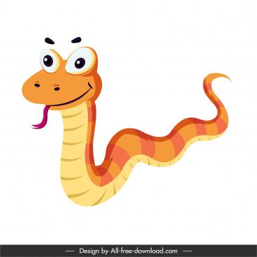 snake icon cute funny cartoon sketch