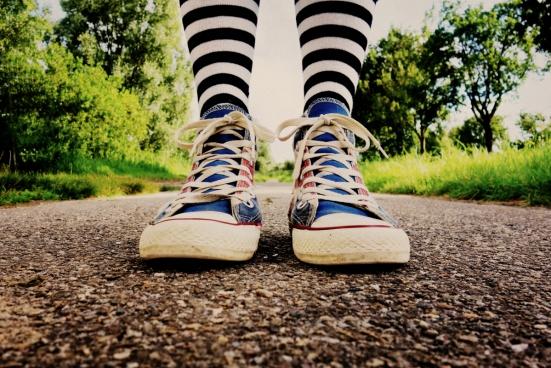 sneaker feet