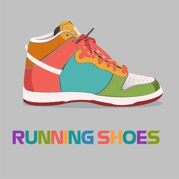 sneakers icon illustration with realistic style