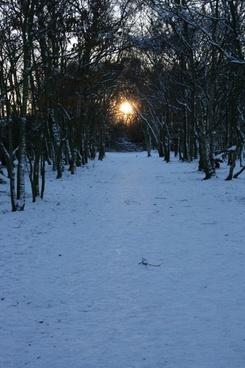 snow and sun tunnel