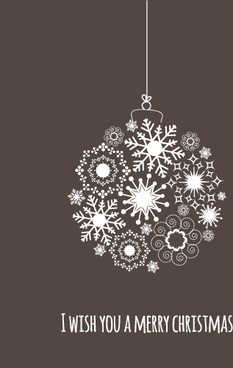 snow baubles merry christmas background vector