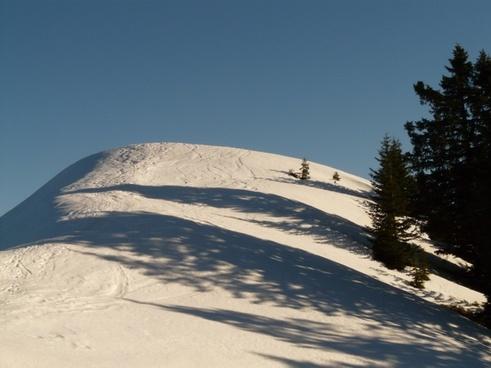 snow dome snow mountain snow