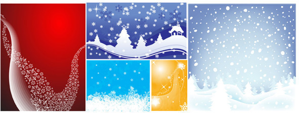 snow durian background vector set