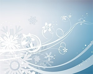 snowflakes flowers background bright curves design