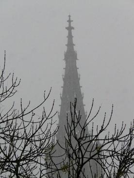 snow flurry fog trist