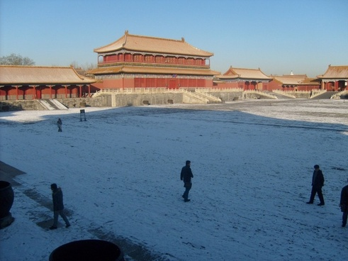 snow in forbidden city