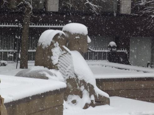 snow in victoria square guardian sphinx