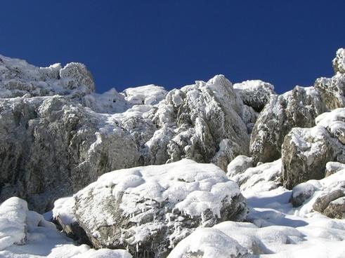 snow mountains walser